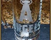 Anaheim Angels Etched Beer Mug Glass