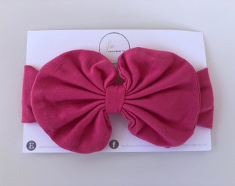 Hot pink baby hair bow, baby bow, baby accessories, gifts under 20, baby girl,