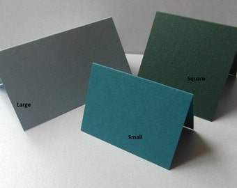 Blank Place Cards/Place Settings Variety of Colours/Sizes