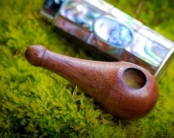 Stubby, Old School Wood Pipe, Black Walnut, wood pipe, wooden pipe, unique pipe, stash pipe, smoking pipe, pipe, tobacco pipe