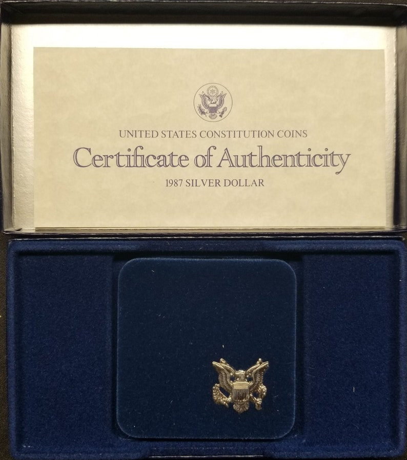 1987 Commemerative Set-Constitution Proof Silver Dollar image 0