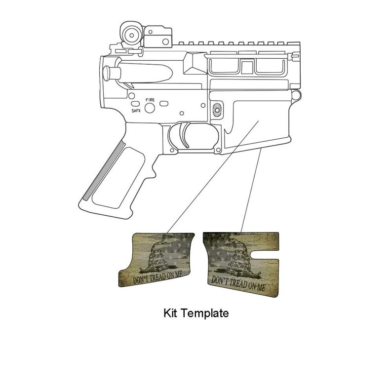 GunSkins AR-15 Magwell Skin Specialty Decal (GS Don't Tread On Me)