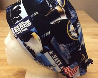 Navy Scrub Hat