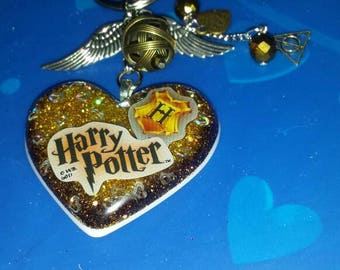 Harry potter with a golden snitch