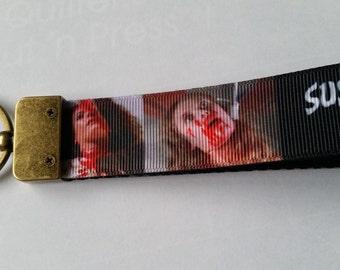 Suspiria Horror movie Keychain Scary Movie keychain Horror movie Keychain Unique keychain Halloween Keychain Suspiria Keyfob horror keyfob