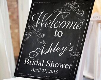 personalized bridal shower chalkboard sign ppd jm928160
