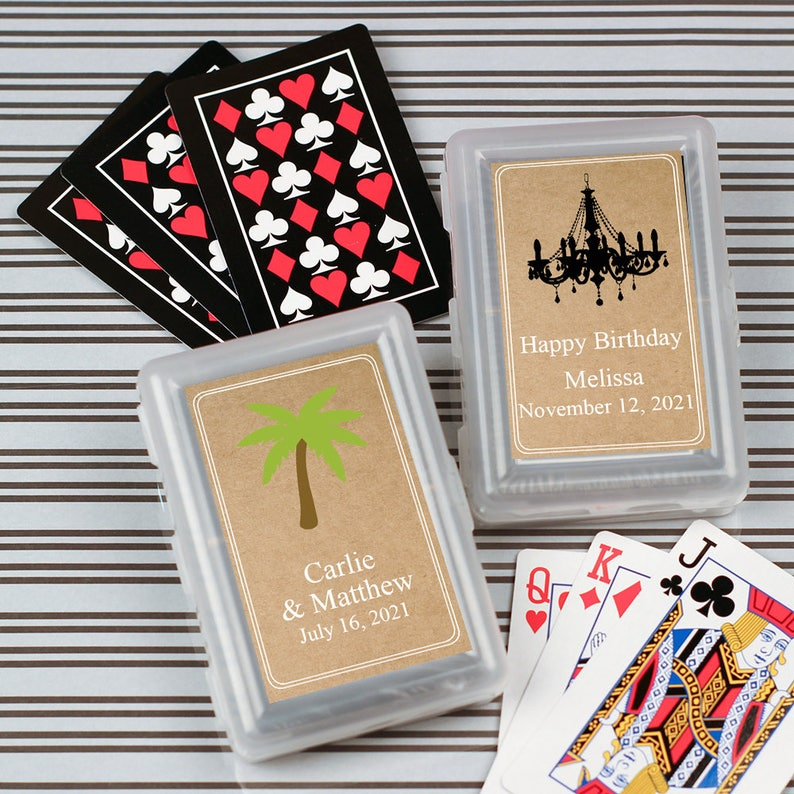 12pcs Themed Personalized Playing Cards With