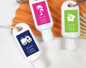 10 pcs Personalized Wedding Mini Sun Screen - Beach Wedding Favors (PPD301-FC6799)