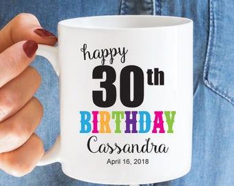 Happy Birthday Personalized Coffee Mug - White Coffee Mug -  Birthday Gift - JM2931-5