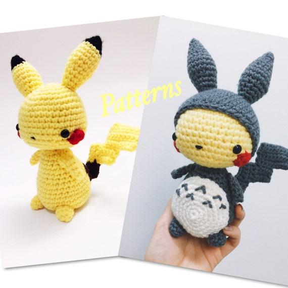 Kawaii Pikachu Pokemon Amigurumi & Pikachu in Totoro Suit | Etsy