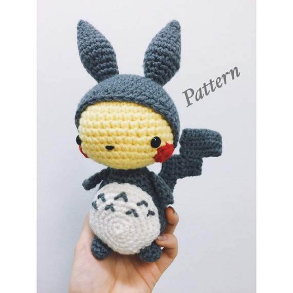 Kawaii Pikachu in Totoro Suit Amigurumi PDF PATTERN | Etsy