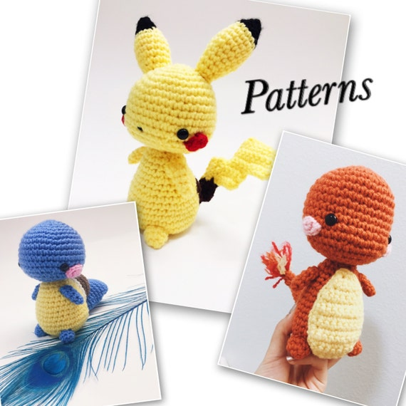 Kawaii Pokemon Amigurumi Pattern Package Pikachu | Etsy