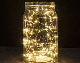 10 ft 30 LED Copper String Light 10 feet long Fairy Lights Battery Operated Waterproof Wedding Centerpiece Warm White