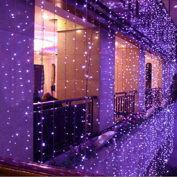 300 LED 9 pi x 9 pi rideaux, toile de fond, l\'écran s\'éclaire, mariage