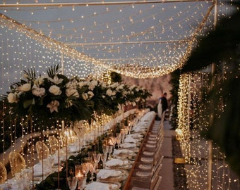 64 feet 200 LED Continuous Strand String Fairy Lights Wedding Garden Party Xmas Light Linkable