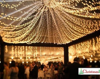 64 feet 200 LED String Fairy Lights Wedding Garden Party Xmas Light, White, Blue, Green, Red Linkable