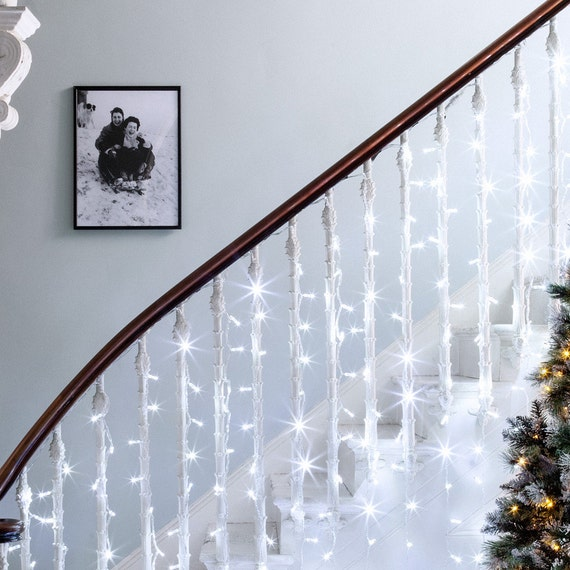 100 Awesome Christmas Stairs Decoration Ideas: WHITE 16 Feet 5M 50 LED Fairy String Light Christmas Party