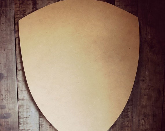 Unfinished, Shield, Badge, Knight, Blank, Police, Cop Ready, Paint, Blank, Door, Hanger, DIY, Wood, Blank, Circle, Wholesale