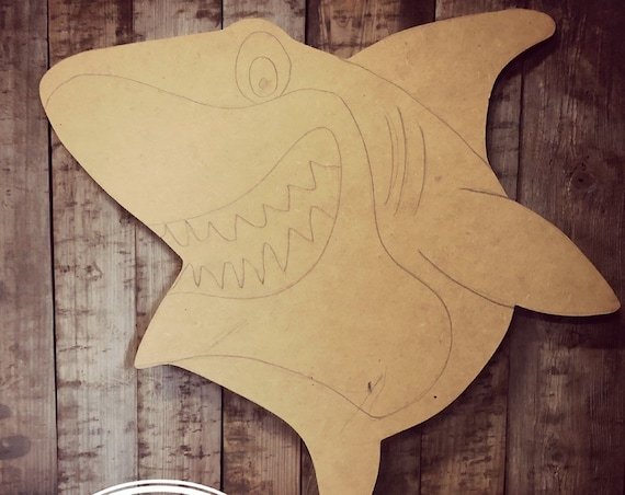 Unfinished, Shark, Door, Hanger, Baby, Summer, Birthday, Party, DIY, Blank, Wood, Cut, Out, Ready, To, Paint, Custom, Wholesale