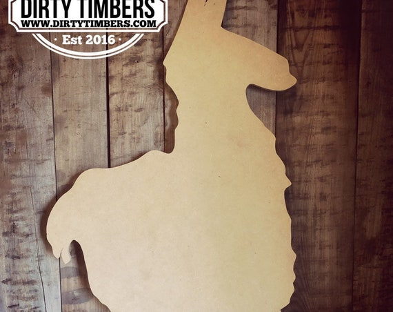 Unfinished, Llama 2, Door Hanger, Birthday, Party, Trending, DIY, Blank, Wood, Cut, Out, Ready, To, Paint, Custom, Wholesale