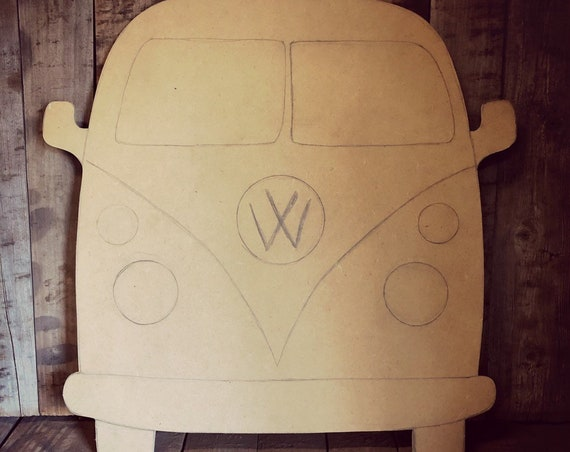 Unfinished, Volkswagon, Bus, Beach,  Ready To, Paint, , Door, Hanger, Fall, Decor, Wood, Blank, Cut Out, Diy, Wholesale