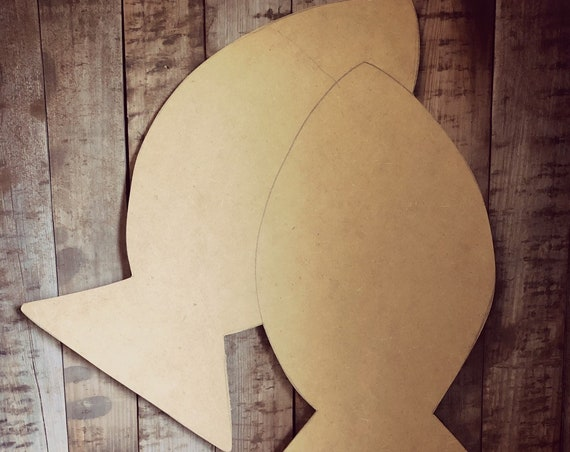 Unfinished, Fish, Door, Hanger, DIY, Blank, Wood, Cut, Out, Ready, To, Paint, Fall, Summer, Christmas, Custom,