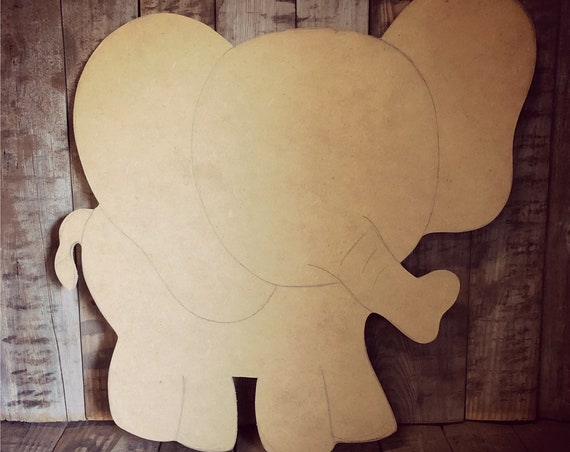Unfinished, Elephant, Baby, Announcement, Door, Hanger, DIY, Blank, Wood, Cut, Out, Ready, To, Paint, Fall, Summer, Christmas, Custom,