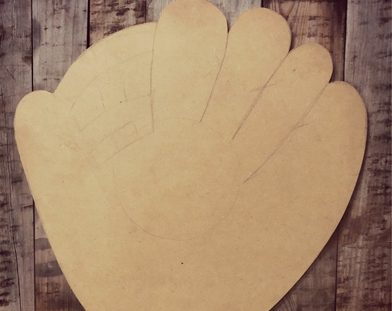 Unfinished, Baseball Glove, Door, Hanger, DIY, Blank, Wood, Cut, Out, Ready, To, Paint, Fall, Summer, Christmas, Custom,