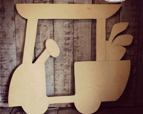 Unfinished, Golf Cart, Baby, Fathers Day, Golfer, Birthday, Door, Hanger, DIY, Blank, Wood, Cut, Out, Ready, To, Paint, Custom, Wholesale