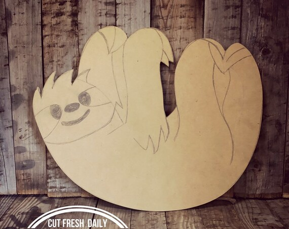 Unfinished, Sloth, Door, Hanger, Baby, Announcement, Hospital,  DIY, Blank, Wood, Cut, Out, Ready, To, Paint, Summer, Custom, Wholesale