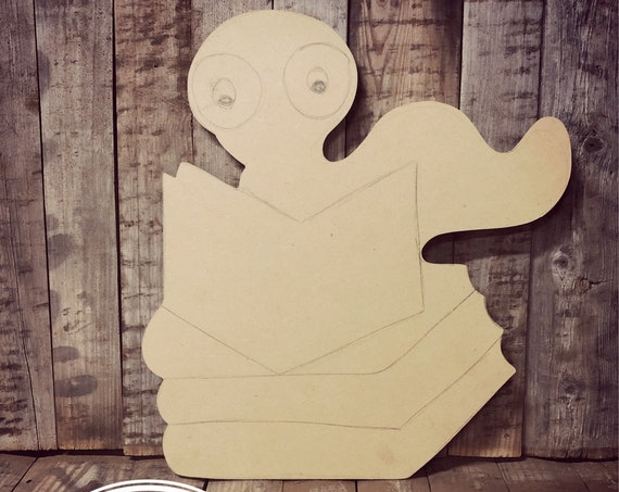 Unfinished, Book Worm, School, Door, Hanger, DIY, Blank, Wood, Cut, Out, Ready, To, Paint, Fall, Summer, Christmas, Custom, Wholesale