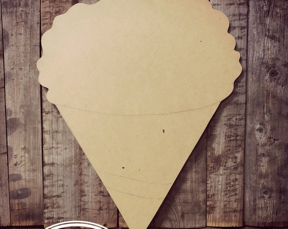 Unfinished, Snow Cone, Door, Hanger, DIY, Blank, Wood, Cut, Out, Ready, To, Paint, Fall, Summer, Christmas, Custom, Wholesale