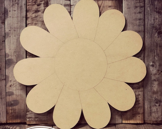 Unfinished, Daisy, Flower, Door, Hanger, DIY, Blank, Wood, Cut, Out, Ready, To, Paint, Fall, Summer, Christmas, Custom, Wholesale
