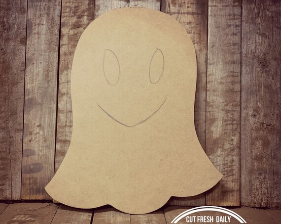 Unfinished, Ghost, Door, Hanger, Thanksgiving, Fall, Halloween, DIY, Blank, Wood, Cut, Out, Ready, To, Paint, Custom, Wholesale, DT2117