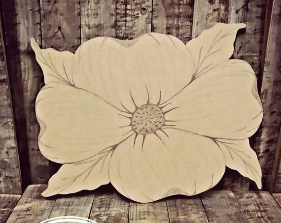 Unfinished, Dogwood, Flower, Door, Hanger, DIY, Blank, Wood, Cut, Out, Ready, To, Paint, Custom, Wholesale, Festival