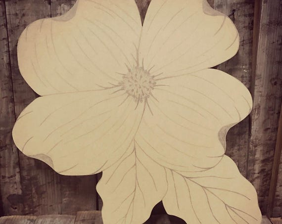 Unfinished, Dogwood, Charleston, Flower, Door, Hanger, Festival, DIY, Blank, Wood, Cut, Out, Ready, To, Paint, Custom,