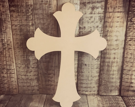 Unfinished, Cross, Easter, Door, Hanger, Diy, Blank, Wood, Cut, Out, Ready, To, Paint, Door Hanger, Custom DT2083