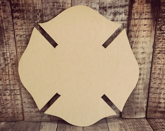 Unfinished,Maltese, Fire, Fighter, Cross, Door, Hanger, Ready to Paint, Blank, DIY, Custom, Cut, Out, Decor, Home, Decor, DT2086