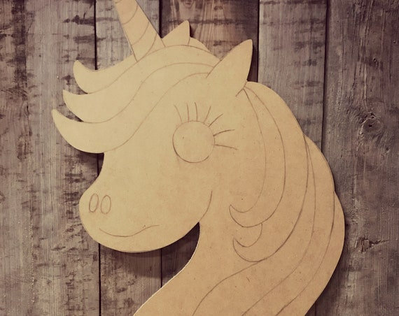 Unfinished, Unicorn, Horse, Little, Pony, Door, Hanger, Birthday, DIY, Blank, Wood, Cut, Out, Ready, To, Paint, Custom, Wholesale