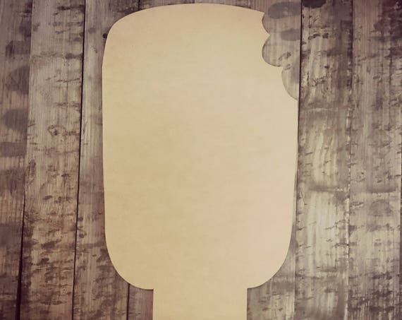 Unfinished, Popsicle , Summer, Party, Door, Hanger, DIY, Blank, Wood, Cut, Out, Ready, To, Paint, Custom, Wholesale