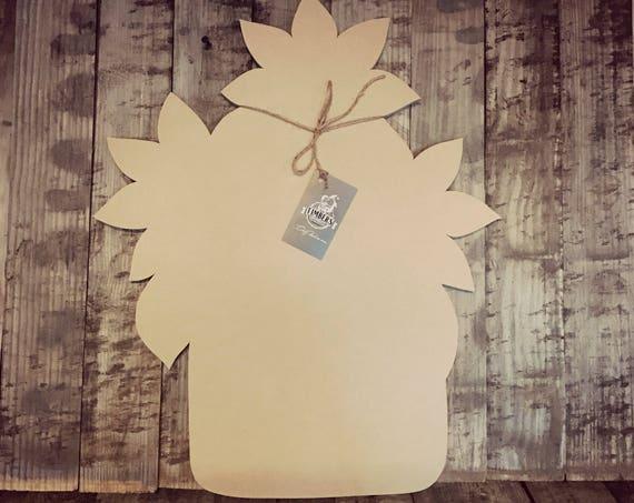 Unfinished, Sunflower, Door, Hanger Mason, Jar, Flower, DIY, Blank, Wood, Cut, Out, Ready, To, Paint, Custom, Wholesale