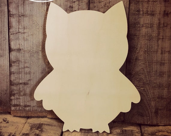 Unfinished, Owl, Kids, Craft, Small, Door, Hanger, Decor, Spring, Party, DIY, Blank, Wood, Cut, Out, Ready, To, Paint