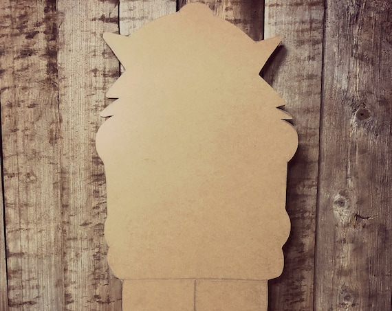 Unfinished, Nutcracker, Toy Soldier, Christmas, Door Hanger, Ready To Paint, Decor, DIY, Blank, Holiday Decor, Paint Blank, Wood, Cut, Out