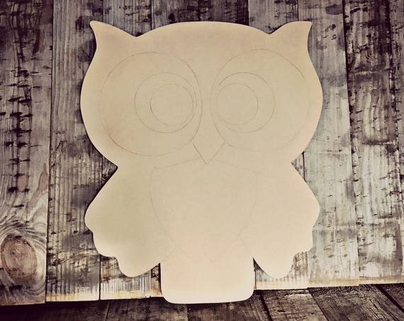 Unfinished, Owl, Door, Hanger, Summer, Baby, Shower, DIY, Blank, Wood, Cut, Out, Ready, To, Paint, Custom, Wholesale