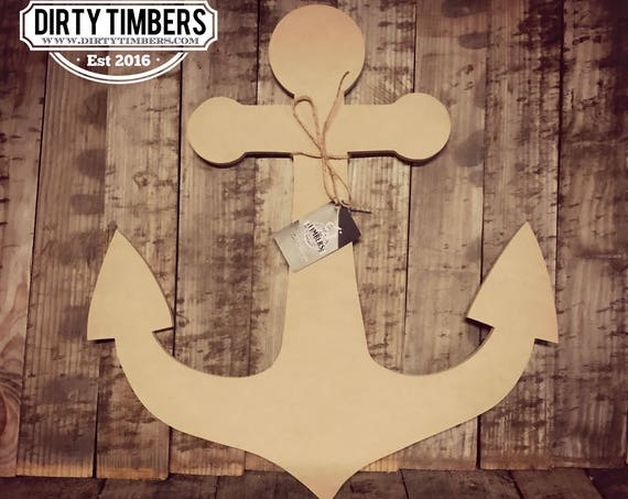 Unfinished, Anchor, Door, Hanger, Summer, Beach, DIY, Blank, Wood, Cut, Out, Ready, To, Paint, Custom, Wholesale