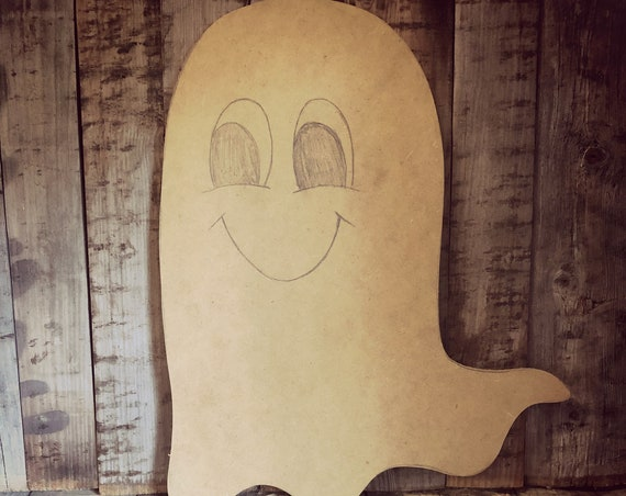 Unfinished, Ghost, Door, Hanger, Halloween, Fall, DIY, Blank, Wood, Cut, Out, Ready, To, Paint, Custom, Wholesale