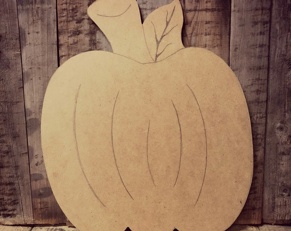 Unfinished, Pumpkin, Door, Hanger, Halloween, Fall, DIY, Blank, Wood, Cut, Out, Ready, To, Paint, Custom, Wholesale