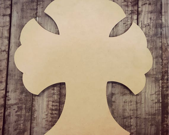 Unfinished, Cross, Easter, Door, Hanger, Diy, Blank, Wood, Cut, Out, Ready, To, Paint, Door Hanger, Wholesale