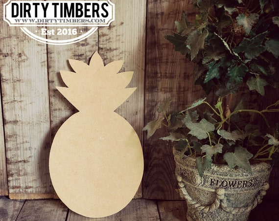 Unfinished, Pineapple, Kids, Craft, Small, Door, Hanger, Beach, Pool, Party, DIY, Blank, Wood, Cut, Out, Ready, To, Paint