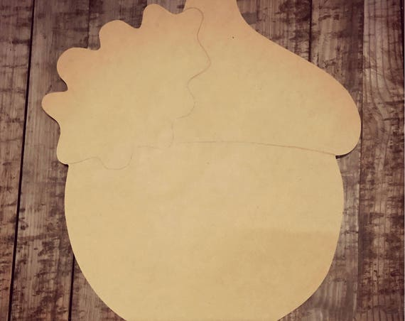 Unfinished, Acorn, Door, Hanger, Fall, Thanksgiving, Halloween, DIY, Blank, Wood, Cut, Out, Ready, To, Paint, Custom,Wholesale